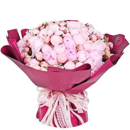 Bouquet 101 peonies