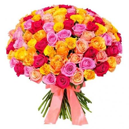 Bouquet Of 101 different colored roses
