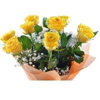 Bouquet April 9 yellow roses