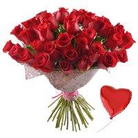 Bouquet 51 premium roses + balloon
