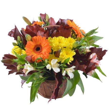 Bouquet Autumn flower basket