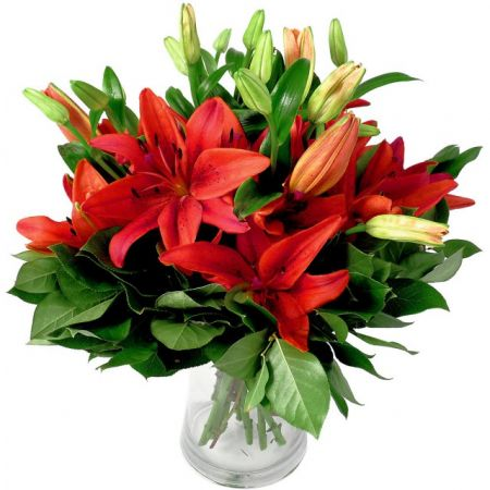 Bouquet Red lilies