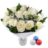 Bouquet Snow White + Christmas balls