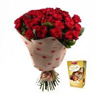 Bouquet Букет «51 роза + Королевский шедевр »