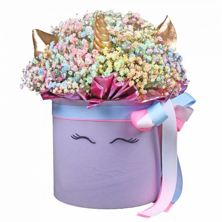 Bouquet Unicorn in a box