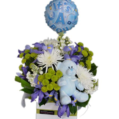 Bouquet New Baby Boy Gift Box