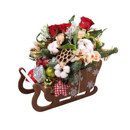 Product Композиция «Сани Деда Мороза»