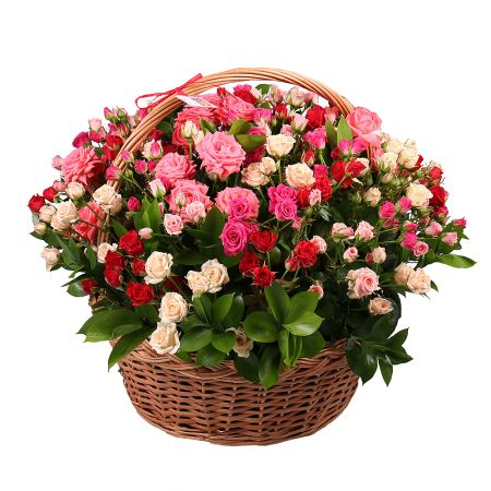 Bouquet Basket with roses