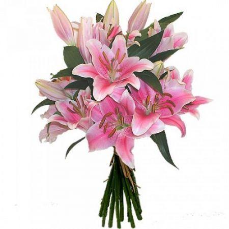 Bouquet Purple lilies