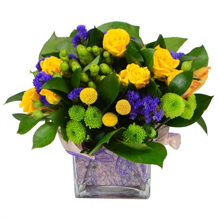 Buy office flowers multi colored with delivery to any city