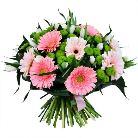 Order bouquet of pink gerberas with delivery