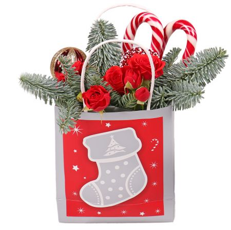 Bouquet Christmas bag
