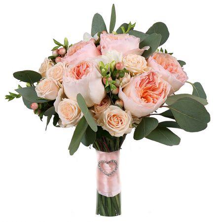 Charlotte, bridal bouquet, bridal bouquet with roses, bridal bouquet with David Austin roses,  cream