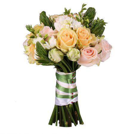 Gentle bridal bouquet, cream bridal bouquet, pink bridal bouquet, peach bridal bouquet, bridal bouqu