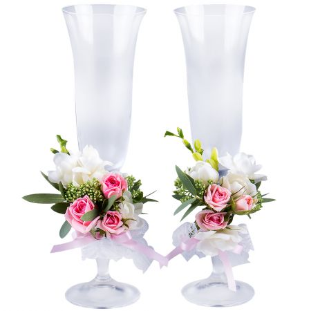 "Bouquet Making glasses ""Pink cloud\"""