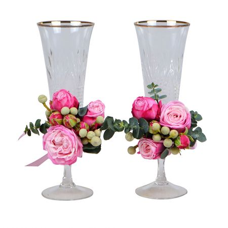 Product Flower decoration of glasses №6