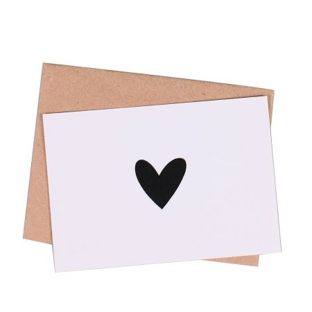 Product Greeting card  Blac Heart