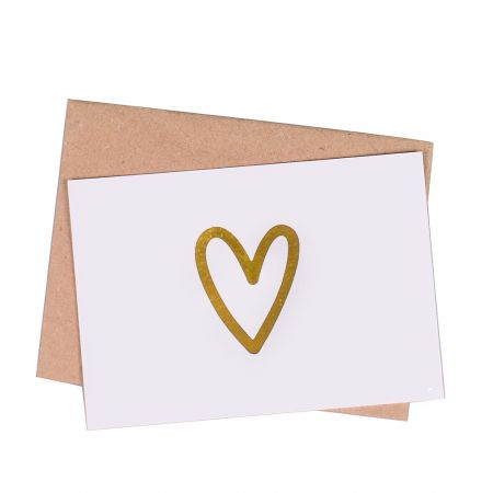 Product Greeting card  Gold Heart
