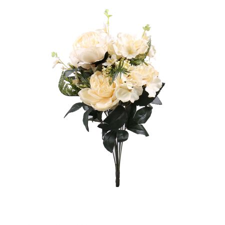 Artificial peony white  | artificial flowers delivery
