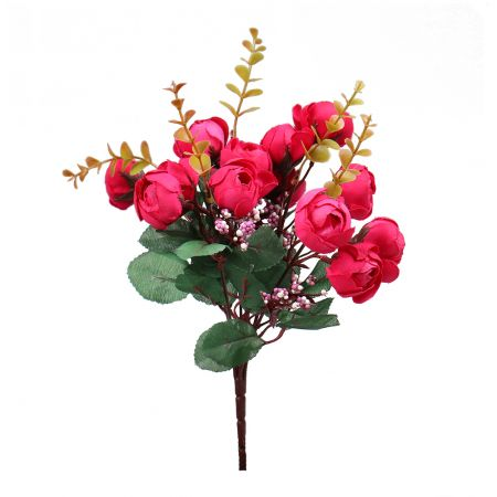 Artificial Peony small with green | order flowers online