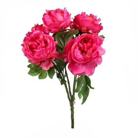 Artificial peony crimson | HQ artificials