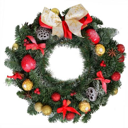 Order christmas wreath of twigs and cones