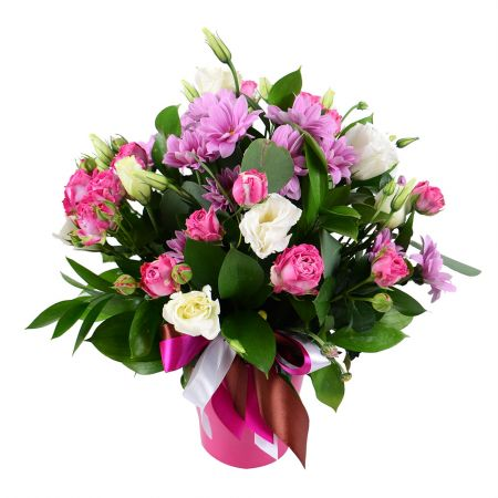 Pink bouquet of roses - fast worldwide shipping
