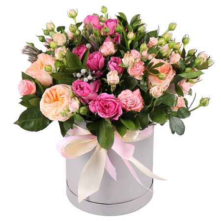 Bouquet Roses in box Juliet