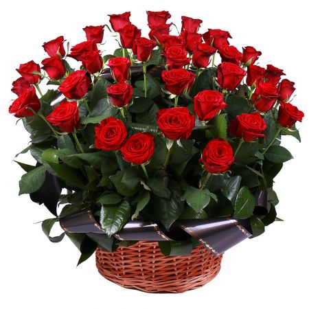 Bouquet Funeral basket of roses