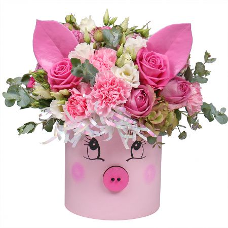 Bouquet Flower little pig